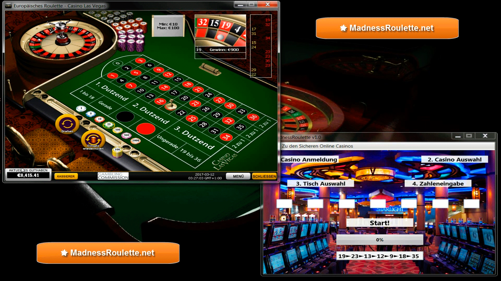 Roulette Madness Software